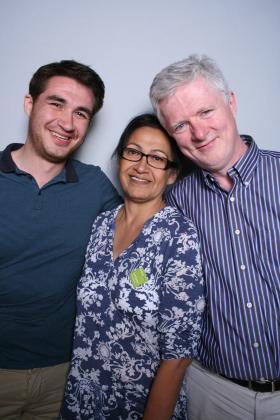 Andrew, Dora and John Cunningham