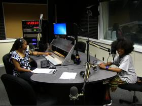 Gwen Bunn with Rose Scott in Studio 4 at WABE