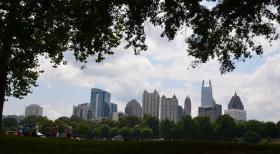 Piedmont Park in the center of Atlanta