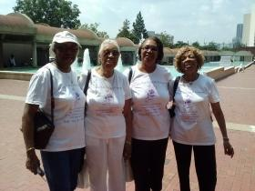 Carolyn Brandon (right), a Pennsylvania resident, visited the MLK Jr. Historic Site with her three sisters.