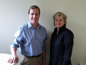 John Lemley and Karin Slaughter