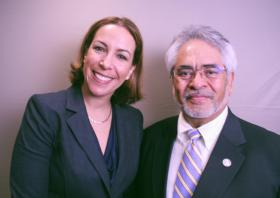 Lawyer Jennifer Trusso and Judge Jimmie Reyna at StoryCorps.