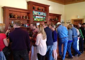 Tasters at a recent event at Three Sisters Vineyards in Dahlonega