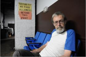 David Sergun says he found his way to the Atlanta Recovery Center after living on Atlanta's streets for a year.  An IT professional, David says he lost his house when business dropped off.