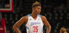 Atlanta forward Angel McCoughtry and Dream team have yet to win a game in three WNBA finals appearances.