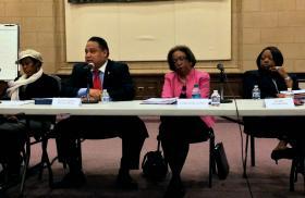 From left: Neighborhood leader Yvonne Jones, City Councilman Michael Julian Bond, Invest Atlanta's Ernestine Garey, and mayoral designee Katrina Taylor Parks.