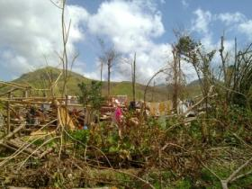 Scene of devastation from Western Visayas, Municipality of Ivizan, Capiz province, Philippines