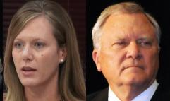 State ethics commission chief Holly LaBerge and Gov. Nathan Deal