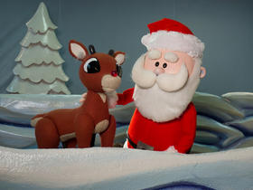 'Rudolph' flies across the Center for Puppetry Arts's stage until December 29th.