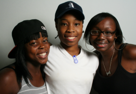 Dominique Merchant, Sia Foday and Jessica Smith at StoryCorps.