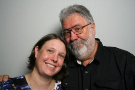 Jackie Hornbeck-Wall and John Hornbeck at StoryCorps