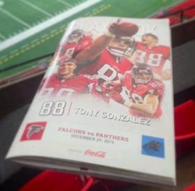Sunday's game day program is devoted to Tony Gonzalez