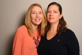 Cashelle and Sabrina Ross in the StoryCorps Booth.