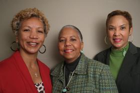 Kaneta Lott-Cuffie, Patricia Zeigler-Jeter and Deborah Lott-Barnes at StoryCorps