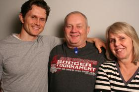 David, Brent and Julie Brough at StoryCorps.