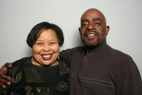 Arletta Brinson and Lanvester Jackson at StoryCorps Atlanta.
