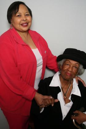 Arletta Brinson and Angela Ellis at StoryCorps.
