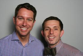 Reese McCranie and Nicholas Church at StoryCorps Atlanta.