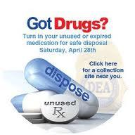 The DEA is holding its National Prescription Drug Take-Back this weekend.