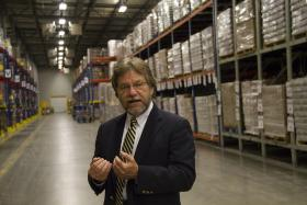 Atlanta Community Food Bank head Bill Bolling says the estimated 1 million pounds of donated food will be distributed about the 7 regional food banks in the state.