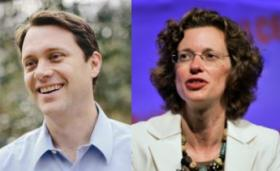 Democratic gubernatorial candidate Jason Carter and U.S. Senate candidate Michelle Nunn