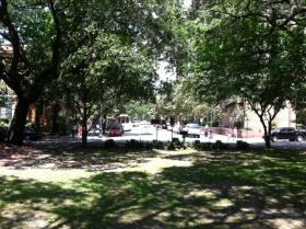 Downtown Savannah has 22 park-like squares.