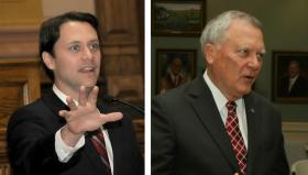 State Sen. Jason Carter, left, and Gov. Nathan Deal.