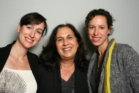 Judy Linzie (middle) and her daughers Amy Linzie and Kelly Hamby in the StoryCorps Booth.