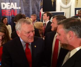 Gov. Nathan Deal making the rounds at the Georgian Terrace Hotel Tuesday night.