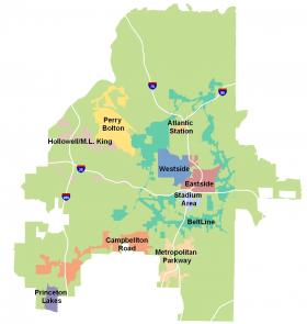 According to Wan, three of the city's 10 TADs are being considered for retirement: Eastside, Princeton Lakes, and Atlantic Station.