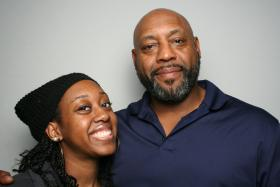 Parys and Terrence Grigsby at StoryCorps.