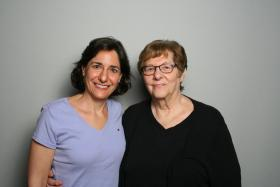 Denise Spiegel and Marcia Meisel at StoryCorps.