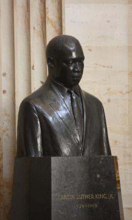 Bust of Martin Luther King, Jr., in the Rotunda of the U.S. Capitol.