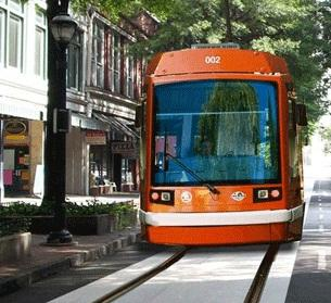 A simulation of Atlanta's planned streetcar
