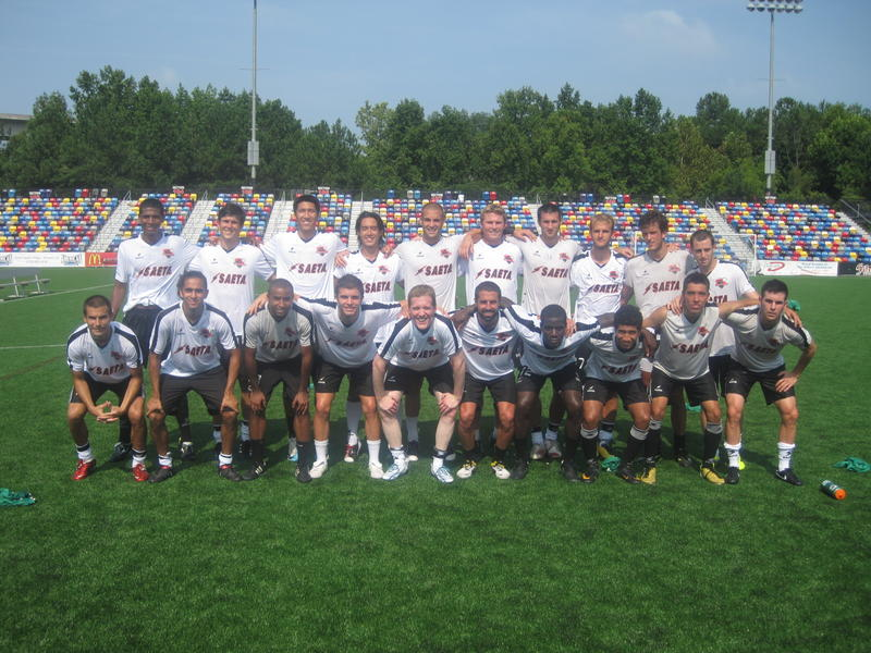 The Atlanta Silverbacks in July 2011. Former WABE host John Lemley is in the center of the front row.