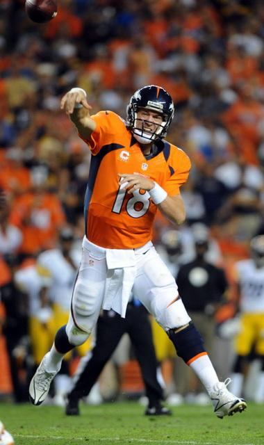 Peyton Manning enters his 15th season in the NFL, his first with the Denver Broncos.