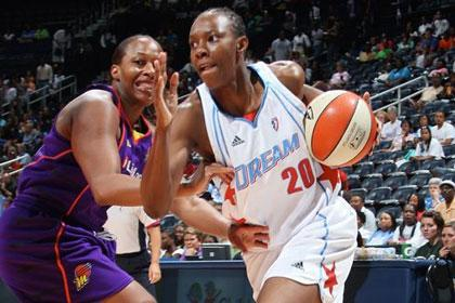 Sancho Lyttle is one of the Atlanta Dream's leading rebounders.