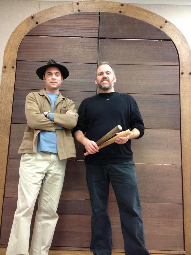 (L to R) DJ Betsill & Dr. Stuart Gerber before Heaven's Door