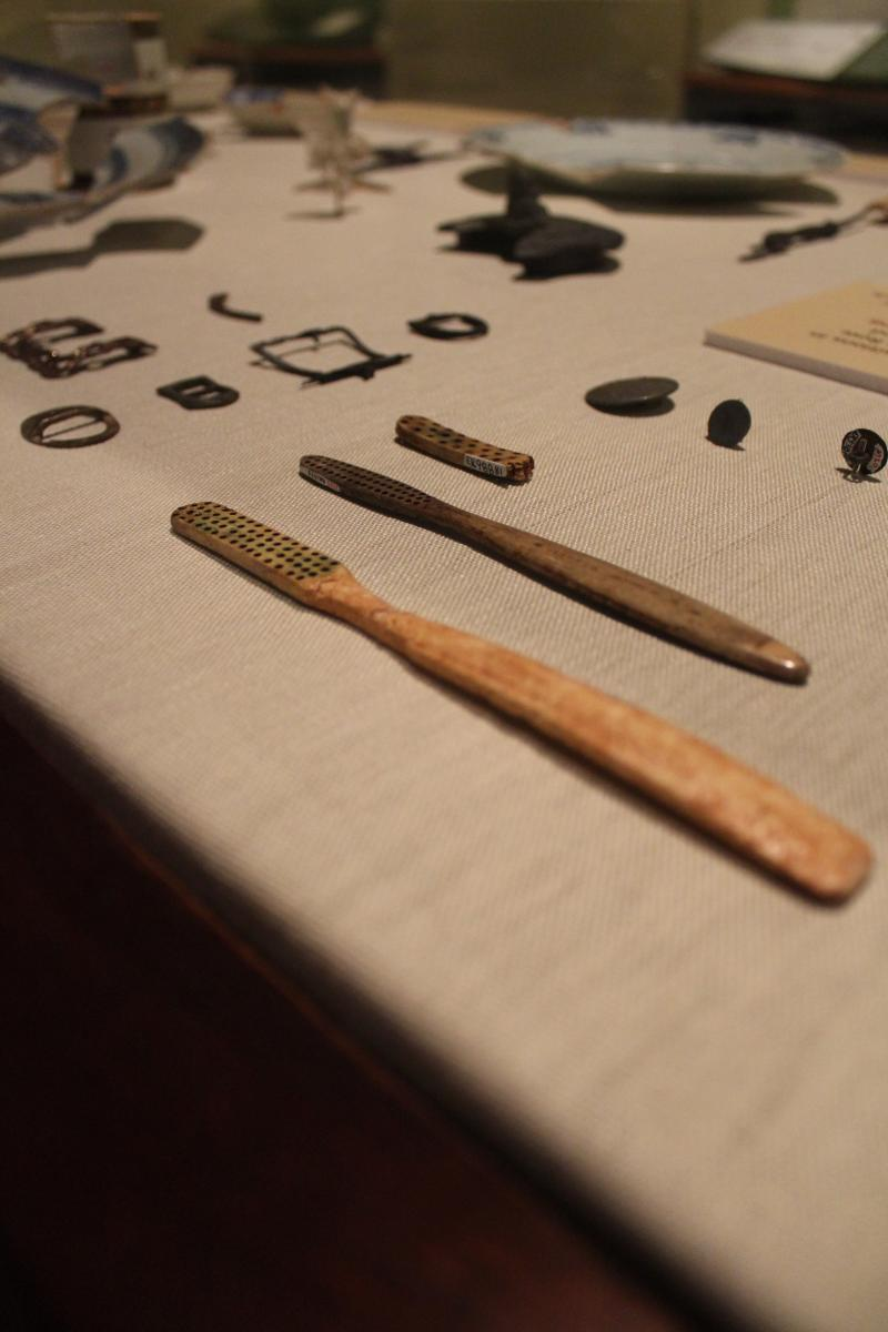 Personal items excavated from Mulberry Row, where enslaved people resided at Monticello