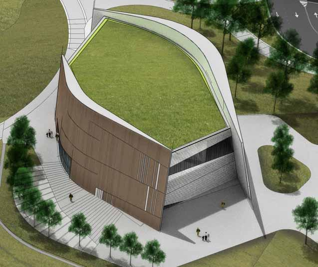 Proposed building design for the National Center for Civil and Human Rights