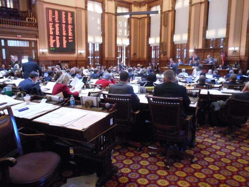 The Georgia House in session on Crossover Day 2013