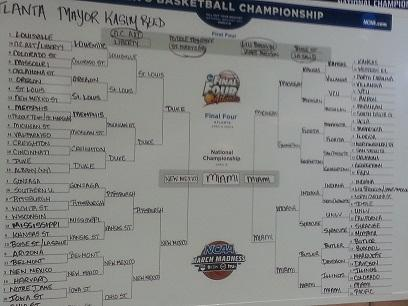 Mayor Reed's Bracket
