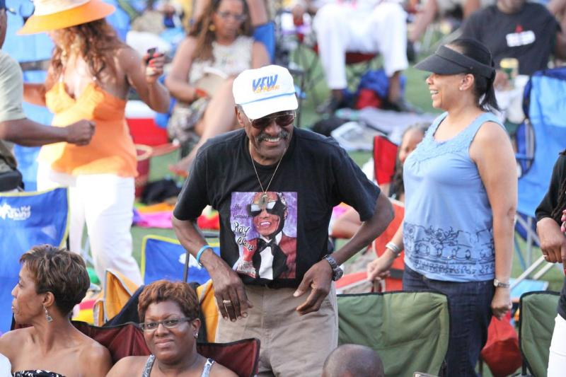 Veteran in the crowd at the 2012 Atlanta Jazz Festival