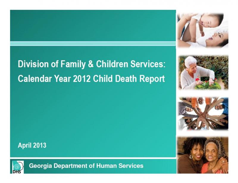 Cover of 2012 child death report