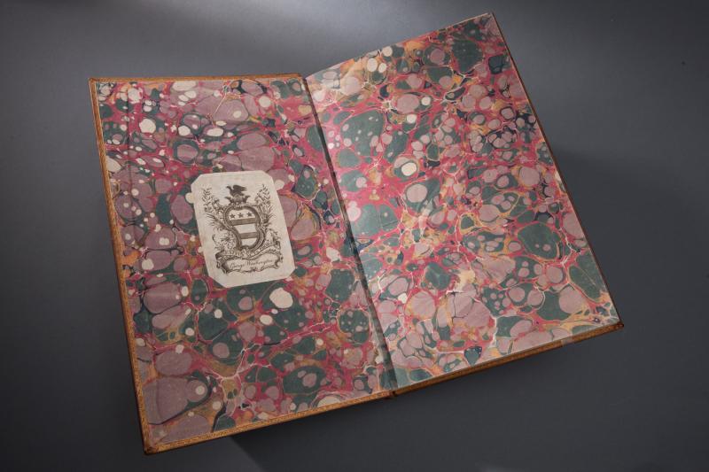 Washington's engraved bookplate