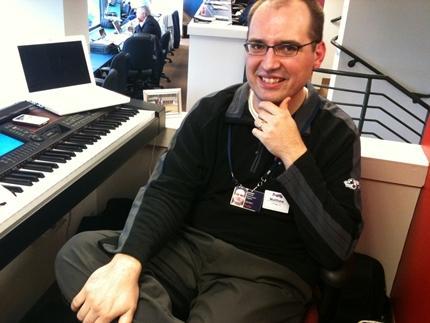 Matt Kaminski, organist for the Atlanta Braves