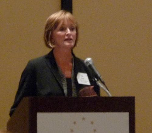 Marilyn Tavenner, Administrator for the federal Centers for Medicare & Medicaid Services, gives the keynote address at the 2013 Georgia Chamber Health Care Conference.