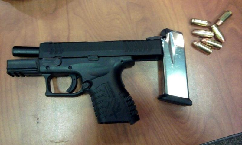 TSA agents at Hartsfield-Jackson Atlanta International Airport confiscated this pistol Wednesday morning.  In 2012, Atlanta led the nation in the number of seized weapons.
