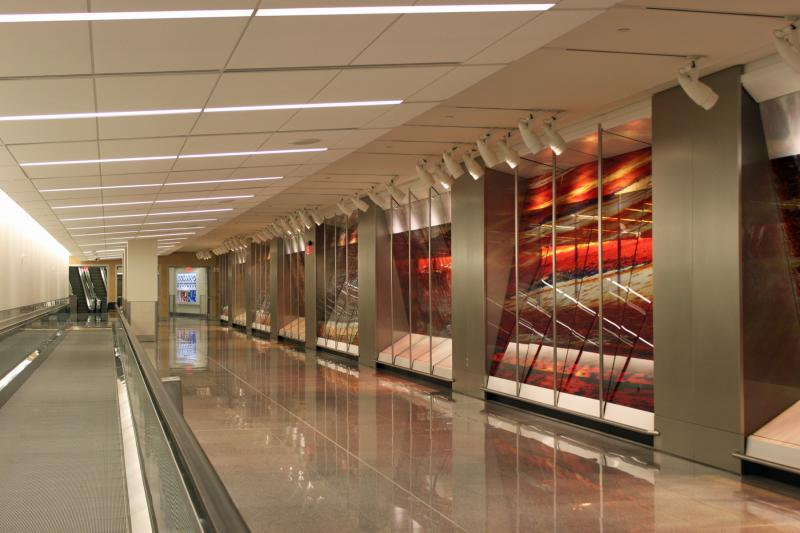 A segment of 'Veneers,' at Hartsfield-Jackson International Airport's new International Terminal