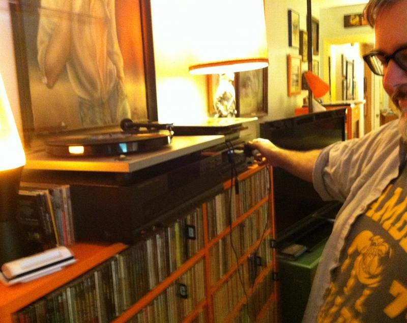 Record collector Chip Duffey